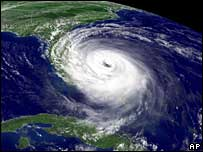 Hurricane Jeanne over Florida, September 2004
