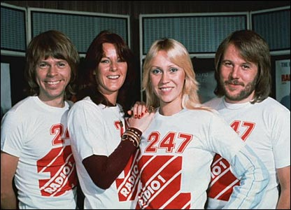 Abba at Radio 1, date unknown