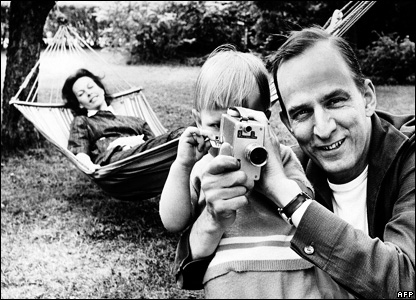 Ingmar Bergman and his son, Daniel