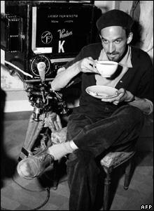 Ingmar Bergman on set