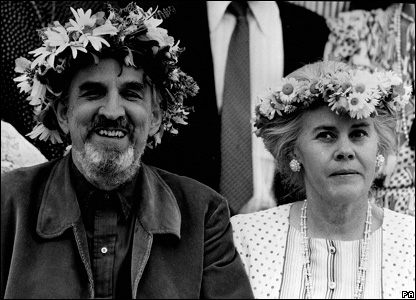 Ingmar Bergman and his wife Ingrid