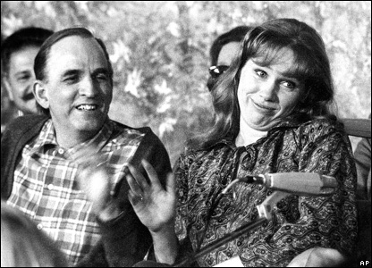 Ingmar Bergman and his daughter Liv
