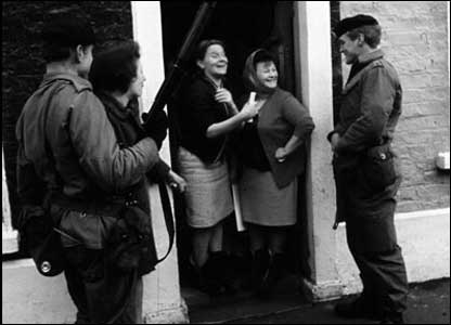British soldiers were initially welcomed into nationalist communities when they arrived in 1969 (Picture courtesy of MoD)