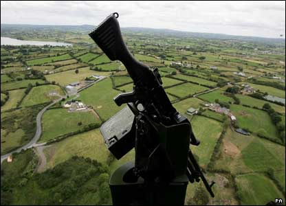 Helicopter view south armagh
