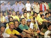 Thaksin supporters at an anti-coup rally in Bangkok in July 2007