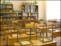 Seats on classroom tables