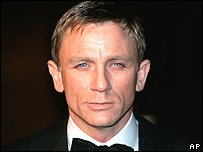 The actor Daniel Craig, star of the James Bond film Casino Royale