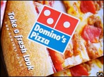 Dominos Pizza advertising