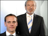 Sir Alan Sugar and James Murdoch