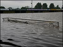 Flood pitch: photo by Neil Phelps