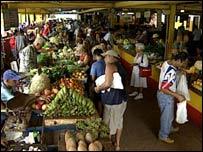 The 19th Street market Havana's Vedado district
