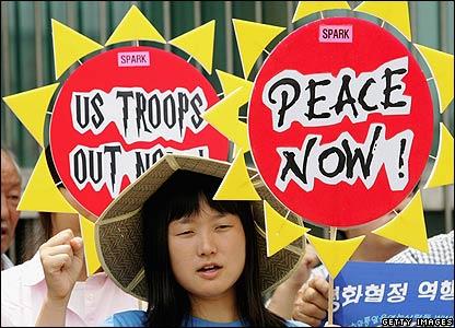 Anti-war rally in Seoul - 31/07/07