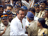 Sanjay Dutt arrives at the special court in Mumbai for his sentencing