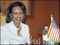 US Secretary of State Condoleezza Rice in Sharm el-Sheikh