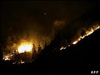 Fires in the Canary Islands