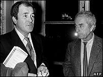 Bernardo Bertolucci and Michelangelo Antonioni