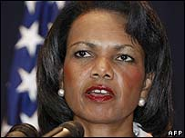 US Secretary of State Condoleezza Rice in Egypt, 31/7/07