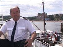 Tom Machin, captain of the Coronia