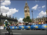 The Tour de France prologue route took in many of London's landmarks.