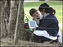 pupils and laptop