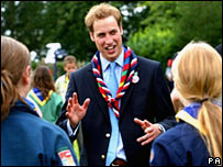 Prince William at the Scout Jamboree
