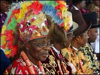 Nigerian chiefs from the oil rich Niger Delta area