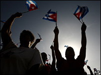 Cubans 54th anniversary of the Revolution in Camaguey, Cuba, 26 July 2007