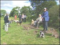 Dog walkers of Oswestry