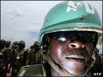 African Union soldiers in Darfur