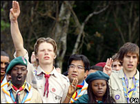Scouts from around the world celebrate at Brownsea Island