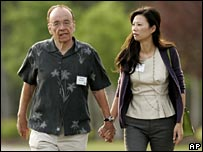 Rupert Murdoch and wife Wendi Deng
