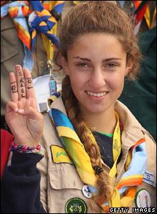Israeli girl scout