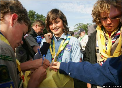 Scouts celebrate their anniversary