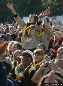 Scouts at the centenary jamboree