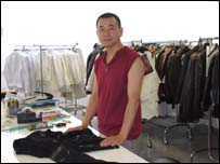 Chinese worker in textile company Guipel
