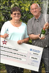 Lottery winners Derek and Dawn Ladner