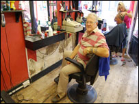 Alan Cresswell, barber in Tewkesbury