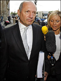 McLaren team boss Ron Dennis