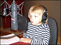 Oliver Dillon recording his role