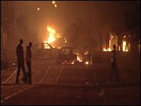 Bangor riot scene