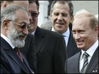 Artur Chilingarov y el presidente Vladimir Putin.