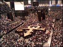Prince's stage at the O2 arena (photo by Andrew Buchan)