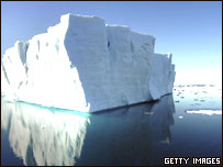 Iceberg en el Golfo de Erebus y Terror.