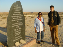 A memorial for the Herero Tribe, massacred by their colonial masters