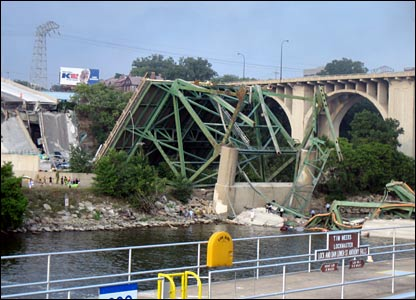 Bridge collapse. Copyright Aaron Becker