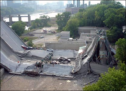 Bridge collapse, copyright Tim Ellingson