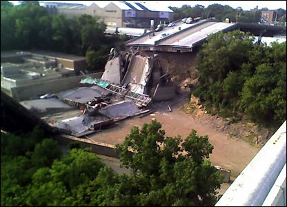 Bridge collapse, copyright Willliam Oosterman