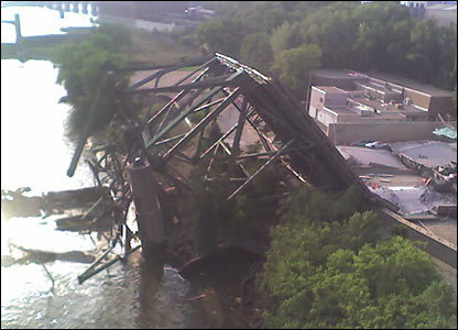 Bridge collapse, copyright William Oosterman
