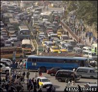 Traffic in Kabul