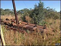 Derailed train in DR Congo (File photo)